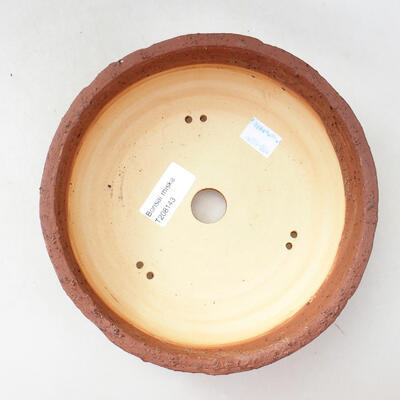 Ceramic bonsai bowl 18.5 x 18.5 x 6 cm, color gray-green - 3