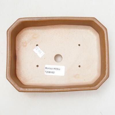 Ceramic bonsai bowl 12 x 17 x 4.5 cm, brown color - 3