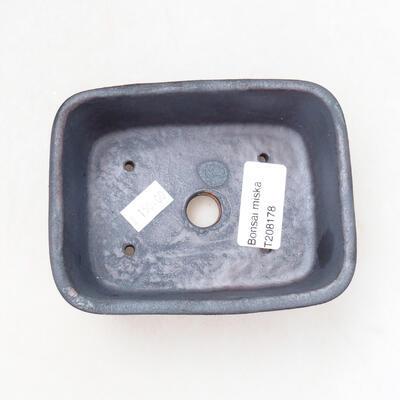 Ceramic bonsai bowl 11 x 8 x 5 cm, metal color - 3