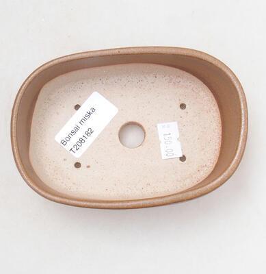 Ceramic bonsai bowl 12 x 8 x 4 cm, color brown - 3