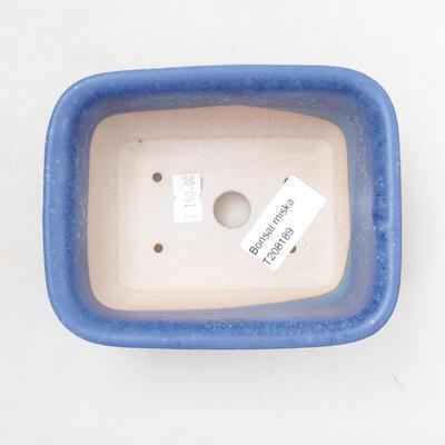 Ceramic bonsai bowl 12 x 9 x 6 cm, color blue - 3