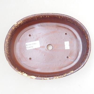 Ceramic bonsai bowl 21 x 16 x 5 cm, color brown-yellow - 3