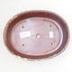 Ceramic bonsai bowl 21 x 16 x 5 cm, color brown-yellow - 3/3