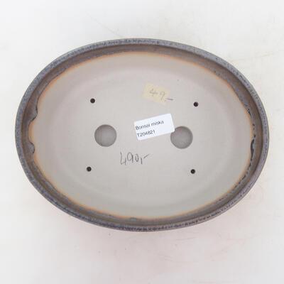 Bonsai bowl 22 x 16.5 x 6 cm, gray-beige color - 3