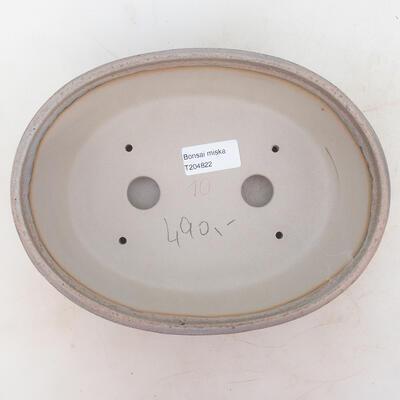 Bonsai bowl 22 x 17 x 7 cm, gray-beige color - 3