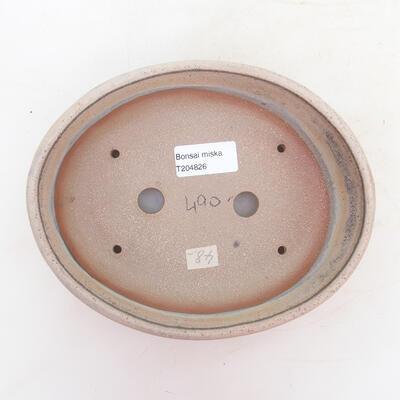 Bonsai bowl 19.5 x 15.5 x 5 cm, gray-beige color - 3