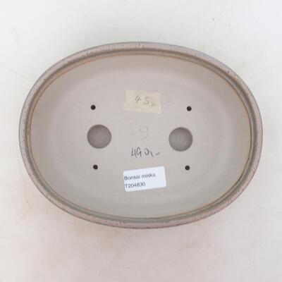 Bonsai bowl 20 x 15 x 6 cm, gray color - 3