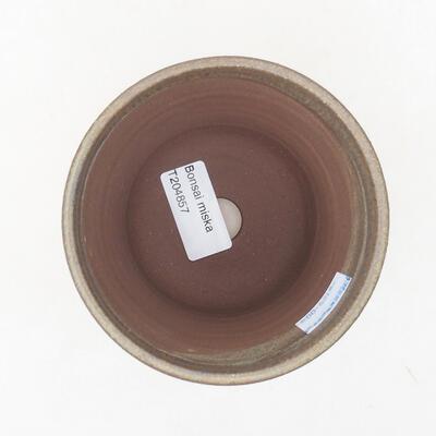 Ceramic bonsai bowl 10 x 10 x 10 cm, color brown - 3