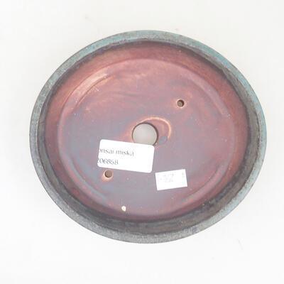 Ceramic bonsai bowl 14 x 13 x 3.5 cm, gray color - 3
