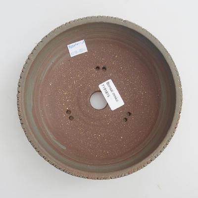 Ceramic bonsai bowl 18,5 x 18,5 x 6 cm, color gray - 3