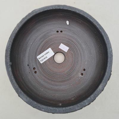 Ceramic bonsai bowl 19 x 19 x 6 cm, color gray - 3