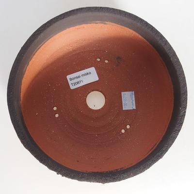 Ceramic bonsai bowl 19.5 x 19.5 x 6.5 cm, color cracked - 3