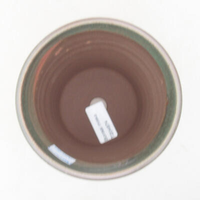 Ceramic bonsai bowl 12 x 12 x 11.5 cm, color green - 3