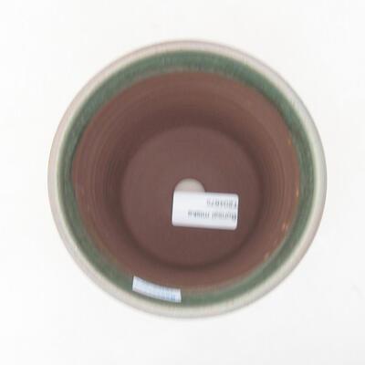 Ceramic bonsai bowl 12 x 12 x 12 cm, color green - 3
