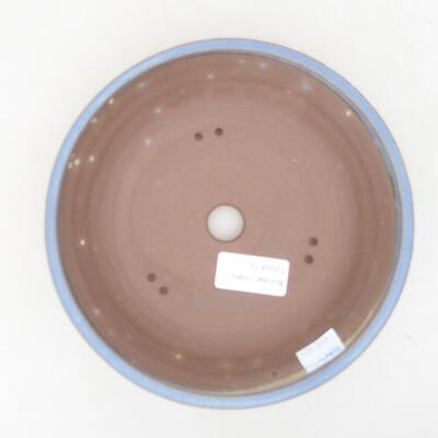 Ceramic bonsai bowl 18 x 18 x 4.5 cm, color blue - 3