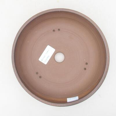 Ceramic bonsai bowl 19 x 19 x 4.5 cm, brown color - 3