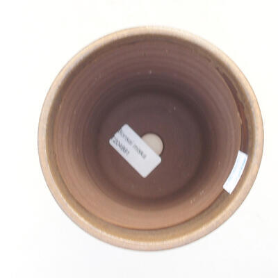 Ceramic bonsai bowl 12 x 12 x 13 cm, color brown - 3