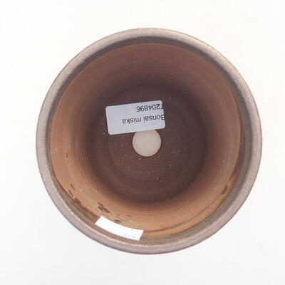 Ceramic bonsai bowl 10.5 x 10.5 x 12 cm, brown color - 3