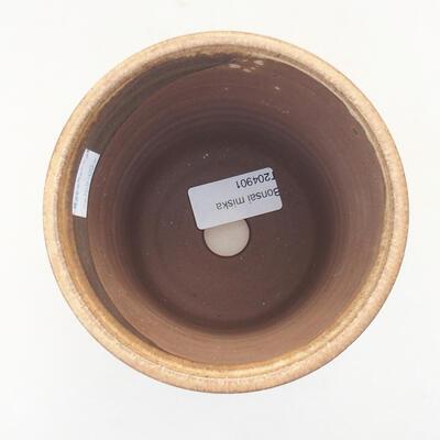 Ceramic bonsai bowl 11.5 x 11.5 x 12.5 cm, beige color - 3