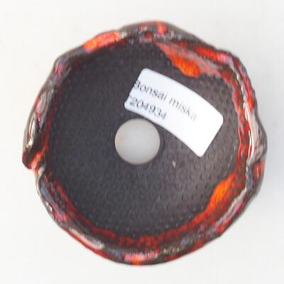 Ceramic shell 7 x 7 x 4.5 cm, color orange - 3
