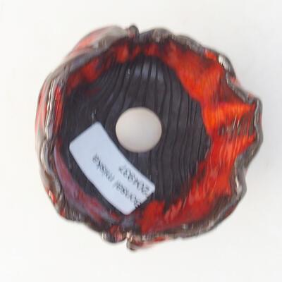 Ceramic shell 7 x 7 x 7 cm, color orange - 3