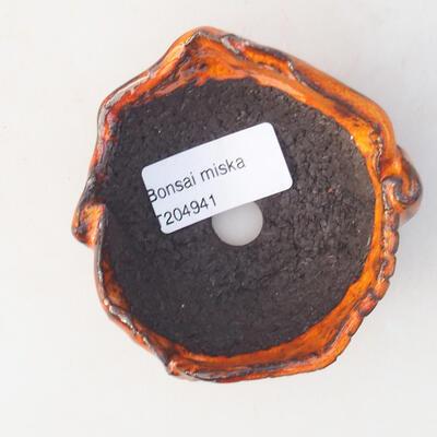 Ceramic shell 7 x 7 x 5 cm, color orange - 3