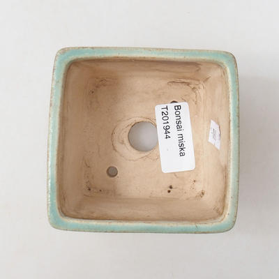 Ceramic bonsai bowl 8 x 8 x 6 cm, color green - 3