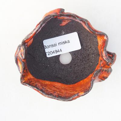 Ceramic shell 7 x 6.5 x 6 cm, color orange - 3