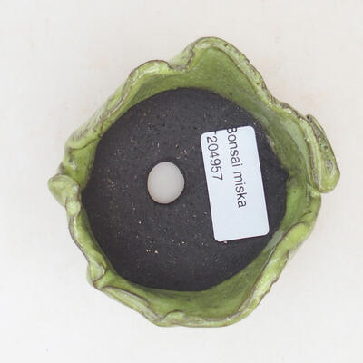 Ceramic shell 7 x 7 x 5 cm, color green - 3