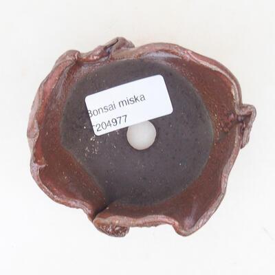 Ceramic shell 8 x 7.5 x 5 cm, brown color - 3
