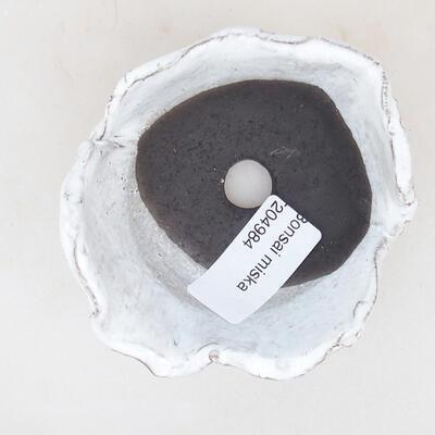 Ceramic shell 8 x 7.5 x 5 cm, white color - 3