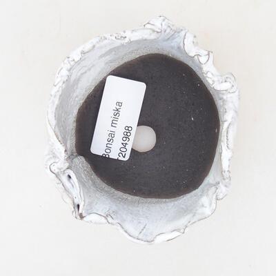 Ceramic shell 7 x 7 x 5 cm, white color - 3