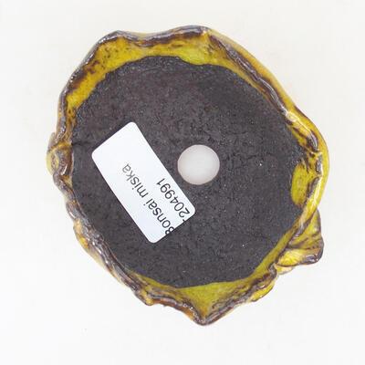 Ceramic shell 8 x 6 x 4.5 cm, yellow color - 3