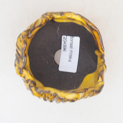 Ceramic shell 7 x 7 x 7.5 cm, yellow color - 3