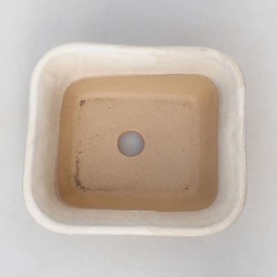 Ceramic bonsai bowl H 38 - 12 x 10 x 5.5 cm, beige - 3
