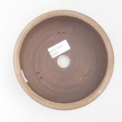 Ceramic bonsai bowl - 19 x 19 x 5,5 cm, color beige - 3