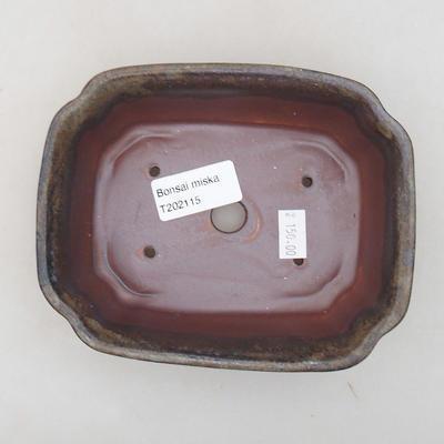 Ceramic bonsai bowl 15 x 12 x 4 cm, gray color - 3