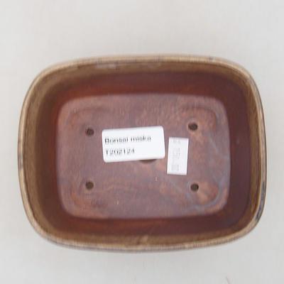 Ceramic bonsai bowl 13 x 10 x 5.5 cm, brown color - 3