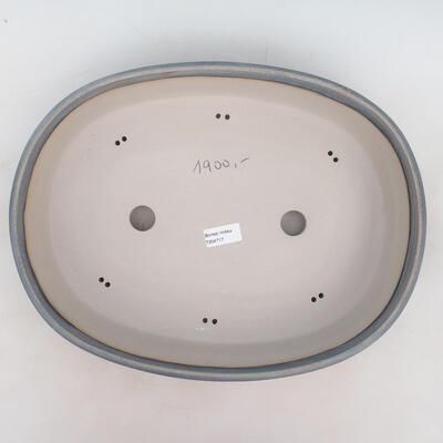 Bonsai bowl 40 x 31 x 9 cm, gray-blue color - 3