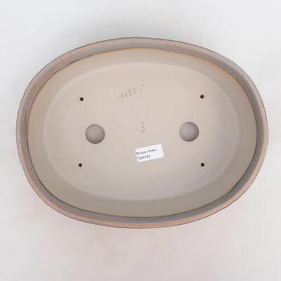 Bonsai bowl 32 x 24 x 8.5 cm, gray-beige color - 3