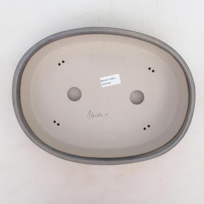 Bonsai bowl 33 x 25 x 7 cm, gray-beige color - 3