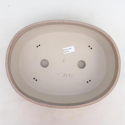 Bonsai bowl 33.5 x 26 x 9.5 cm, gray-beige color - 3