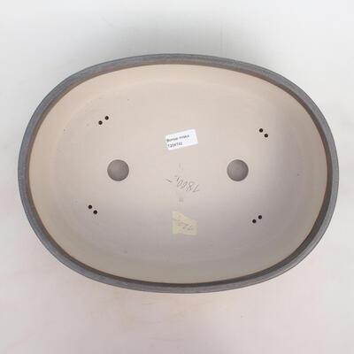 Bonsai bowl 36 x 27 x 9.5 cm, gray color - 3