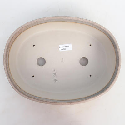 Bonsai bowl 31 x 24 x 8.5 cm, gray-beige color - 3