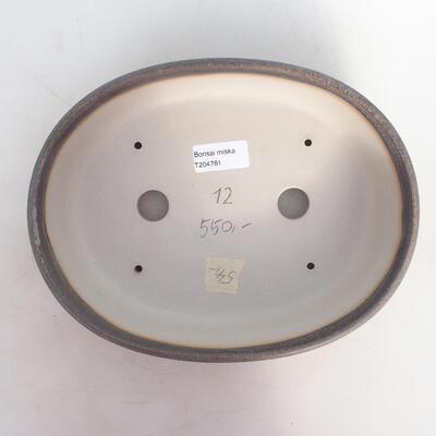 Bonsai bowl 25 x 19 x 6.5 cm, gray-beige color - 3