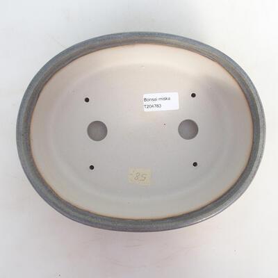 Bonsai bowl 24 x 19.5 x 7.5 cm, gray-beige color - 3