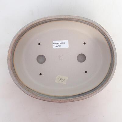 Bonsai bowl 24.5 x 19.5 x 7 cm, gray-beige color - 3