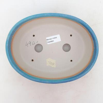 Bonsai bowl 22 x 17 x 7 cm, color blue - 3