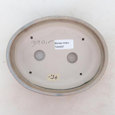 Bonsai bowl 19 x 15 x 4.5 cm, brown-beige color - 3