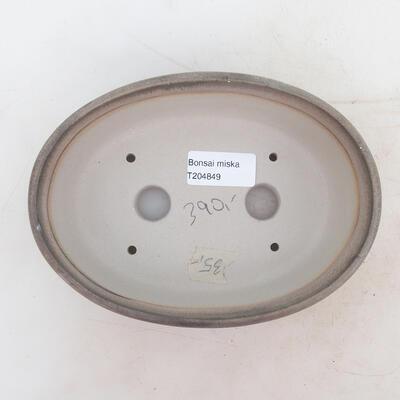 Bonsai bowl 18 x 13 x 6 cm, color gray - 3